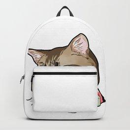 Manx cat Cats Kitty Face Love Cartoon Gift Backpack