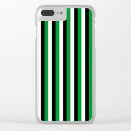 Team Color 4...green,black, white Clear iPhone Case