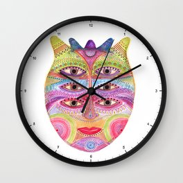 kindly expressed kind of kindness mask Wall Clock