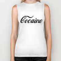 cocaine Biker Tanks featuring Cocaine by Jeef