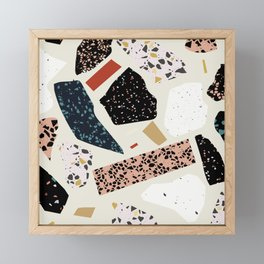 Modern Terrazzo Collage 01 Framed Mini Art Print