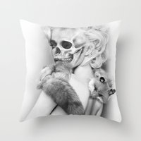 lucy Throw Pillows featuring LUCY by ozgurozcelik