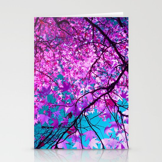 violet tree IV Stationery Cards