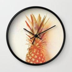 Orange Pineapple Wall Clock