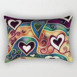 Funky Hearts Rectangular Pillow