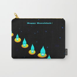 Happy Hanukkah, Chanukah, Menorah in the Dark Carry-All Pouch