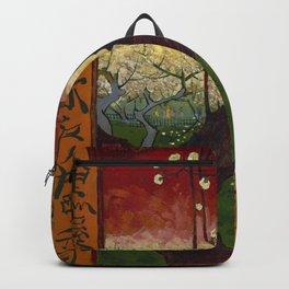 Flowering plum tree (after Hiroshige) Backpack