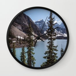 Landscape Photography Lake Moraine Canada Wall Clock