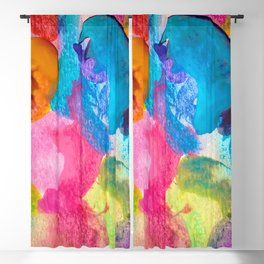 Abstract watercolor spot background Blackout Curtain