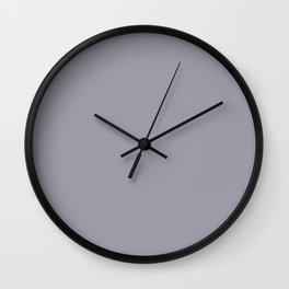 Pantone Lilac Gray 16-3905 Trendy Earth Tone Solid Color Wall Clock