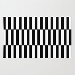 Black & White Triple Stripe Rug