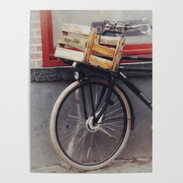 Bicycle, Wood Crate Poster
