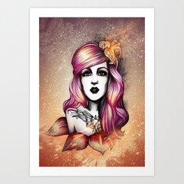 The sky is burning Art Print