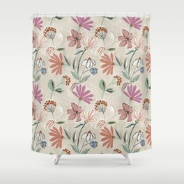 Monday Floral Shower Curtain