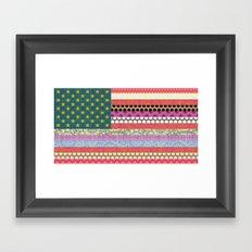 US Beauty flag Framed Art Print