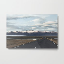 Road Trip in Iceland. || Roads that Lead to the Mountains. || MadaraTravels Metal Print