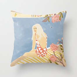 Summer Hiding Throw Pillow