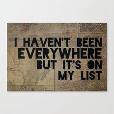 Everywhere Canvas Print