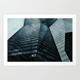 The Towering Skyline Art Print