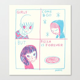 Pizza > Girls Canvas Print