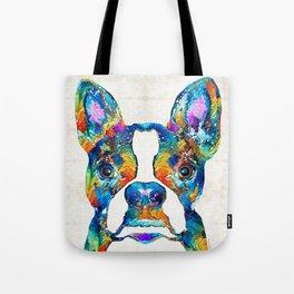 Colorful Boston Terrier Dog Pop Art - Sharon Cummings Tote Bag