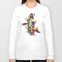 street fighter Long Sleeve T-shirts featuring Street Fighter 25th Anniversary!!! by Ed Warner