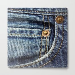 Texture #17 Jeans Metal Print