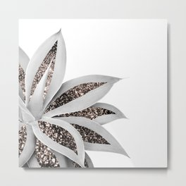 Agave Finesse Glitter Glam #1 #tropical #decor #art #society6 Metal Print