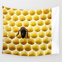Geometric Bee Wall Tapestry