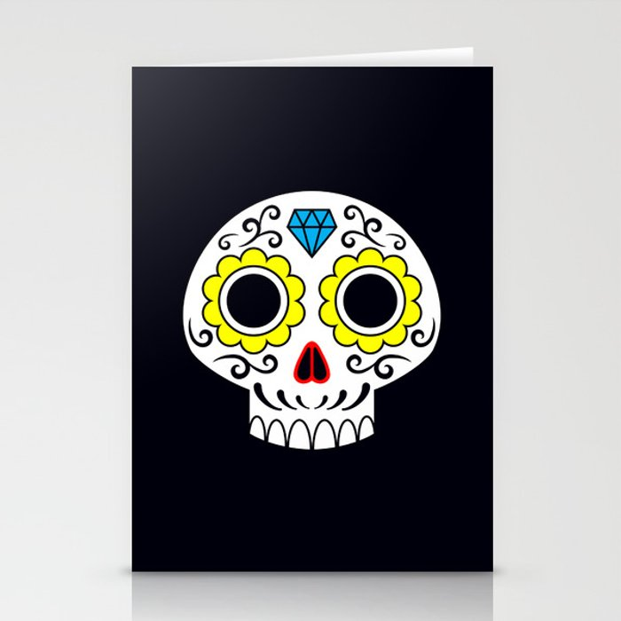 Sugar skull for a cake Stationery Cards