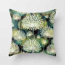 Vintage Dandelions Throw Pillow