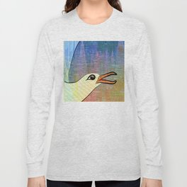 On the Cliffs with Jonathan Livingston Seagull Long Sleeve T-shirt