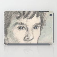 sherlock iPad Cases featuring Sherlock by Pendientera