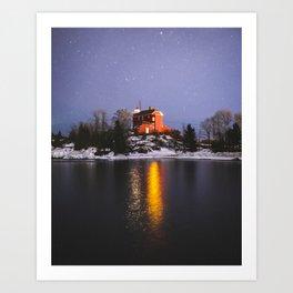 Harbor Lighthouse | Marquette, Michigan | Upper Peninsula | John Hill Photography Art Print