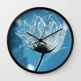 Flower shining in the light snowy mountains #1 Wall Clock