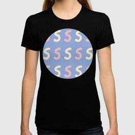 Lower case Letter S Pattern T-shirt