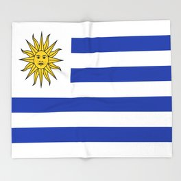 flag of Uruguay-Uruguyan,montevideo,spanish,america,latine,Salto,south america,paysandu,costa,sun,be Throw Blanket