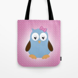Cool Hooter - Owl illustration pink and blue Tote Bag