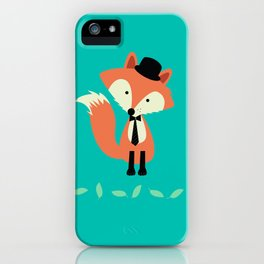 Fox Gone Hipster iPhone Case