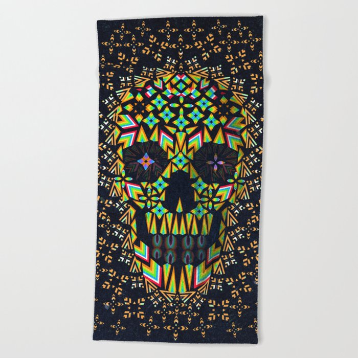 Skull 6 Beach Towel