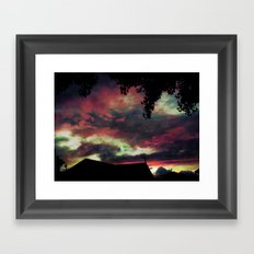 Thick as the Day's End Framed Art Print