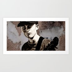 GUITAR BOY - urban ART Art Print