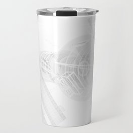 Explorer White and Grey Travel Mug