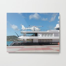 Helicopter On Standby Metal Print