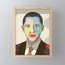 Barack Obama Framed Mini Art Print