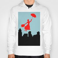 mary poppins Hoodies featuring Mary Poppins  by Sammycrafts