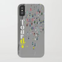 tour de france iPhone & iPod Cases featuring Tour De France by Wyatt Design