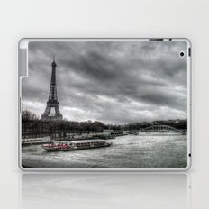 The Eiffel Tower and the Seine - Paris cityscape - hdr Laptop & iPad Skin
