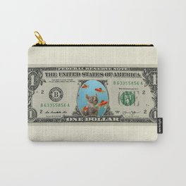 One Dollar note animal cat kitten goldfishes Carry-All Pouch