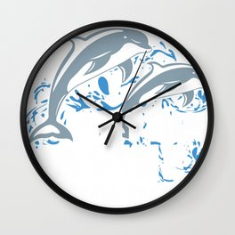 Future Marine Biologist Shirt For Kids Dolphin And Sea Lover Wall Clock